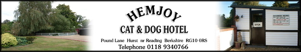 Hemjoy Cat & Dog Hotel in Hurst, Berkshire