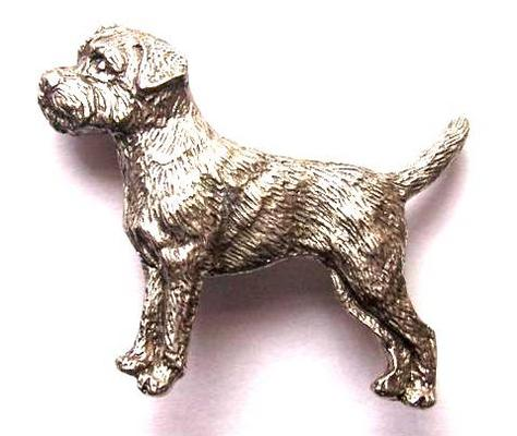 Border Terrier Brooch Pin . Border Terrier Gifts UK