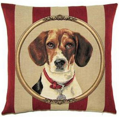 cushion with image of dog